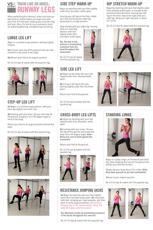 Normally don't pin VS wkout junk-but this has some great variations of leg/glute exercises....& using resistance bands, which I love for lower body:)  Victoria's Secret Train Like An Angel - Runway Legs