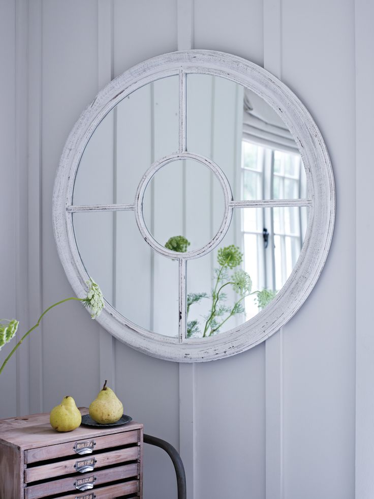White Window Mirror  NEW