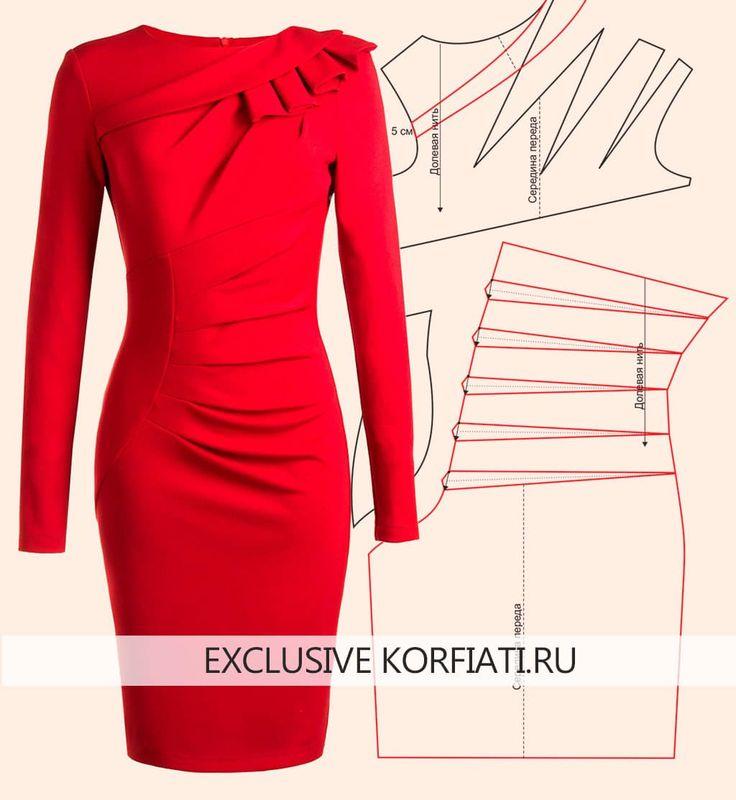 Pattern of a complex cut dress ANASTASIA KORFIATI  At the request of our readers: we simulate a complex cut dress