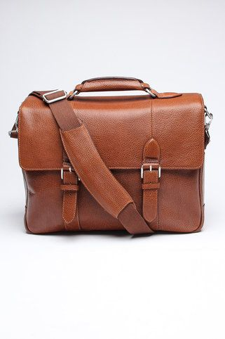 The British Belt Company Antique Cruz Leather Briefcase
