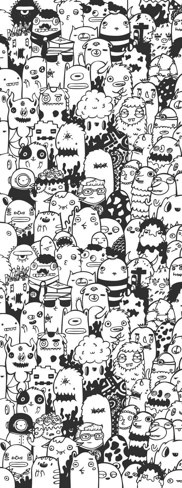Doodle Art by Doodle Bros, via Behance