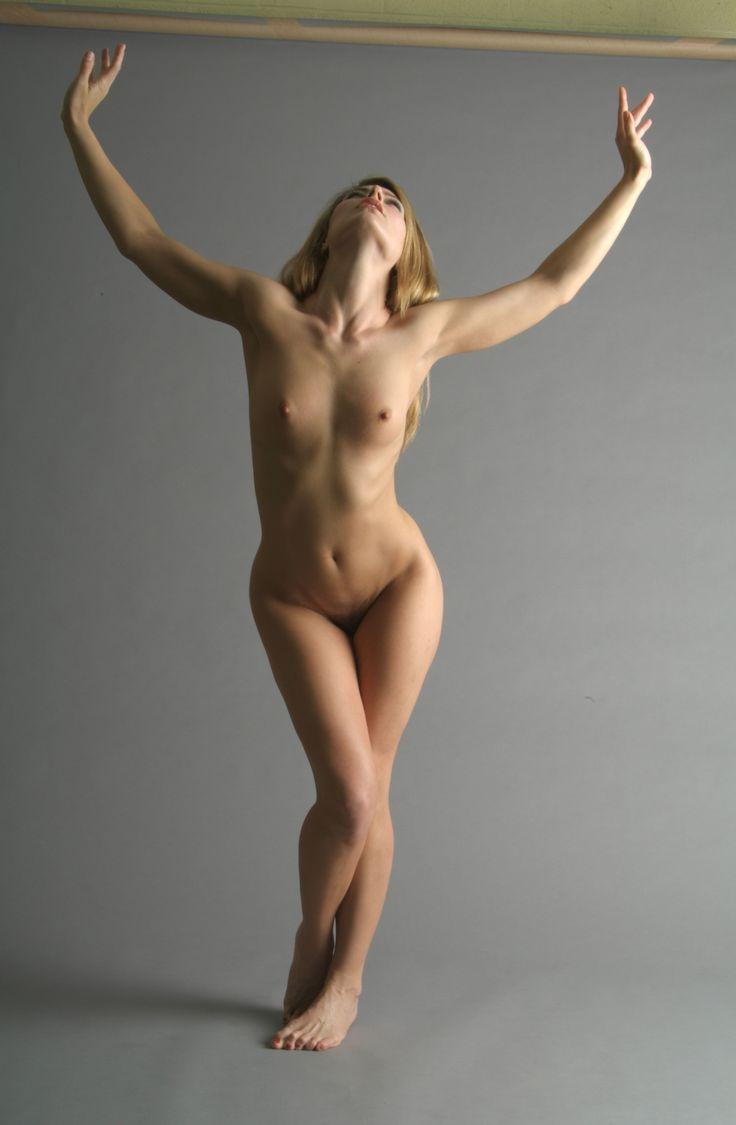 Standing model nude art