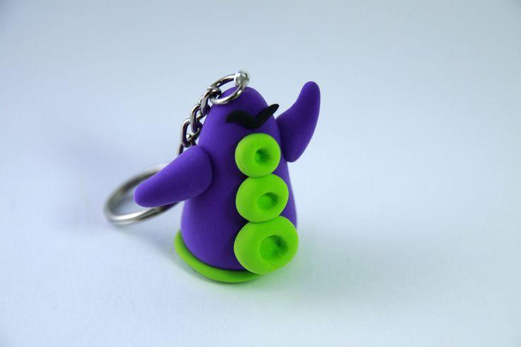 Llavero Tentáculo violeta Jumping Clay