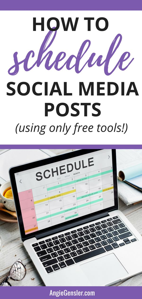Social media marketing - how to schedule social media posts using free tools. Includes four video tutorials. #socialmedia #socialmediatips #socialmediamarketing via @angiegensler