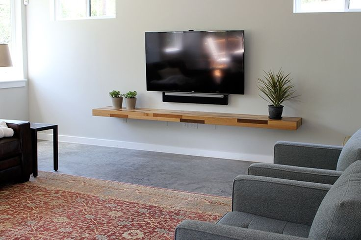 floating shelf below tv - Google Search