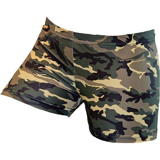 Gem Gear Army Green Camo Volleyball Spandex Short