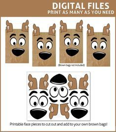 Create the cutest favor bags ever for your Scooby Doo themed party. Transform your ordinary brown lunch bags into a sack fit for Scooby Snacks, that will be the highlight of the party! These DIGITAL PRINTABLES feature ears, eyebrows, eyes, and noses for you to print and cut out, then add to your own brown paper bags (available at any grocery store) ----------------------------------------------------------- WHAT IS INCLUDED IN THE PRINTABLE PDF…