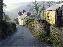 Loxhore Cott, the beautiful North Devon village just on the edge of the National Trust property Arlington Court, Nr Barnstaple, North Devon, UK.