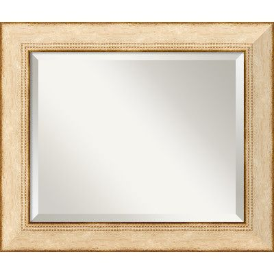 Amanti Art Highland Park Cream Wall Mirror Size: Medium