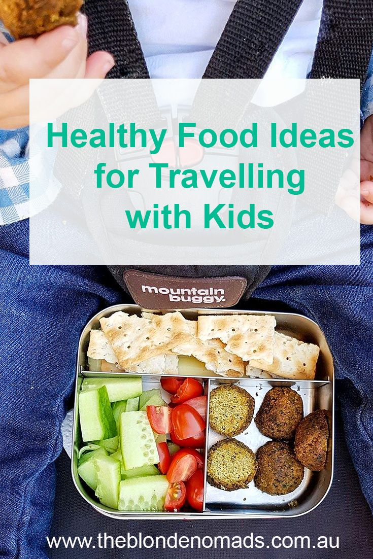 Travelling with little ones and feeding them fresh healthy food on the go can be a challenge - let us inspire you with some healthy snack options.