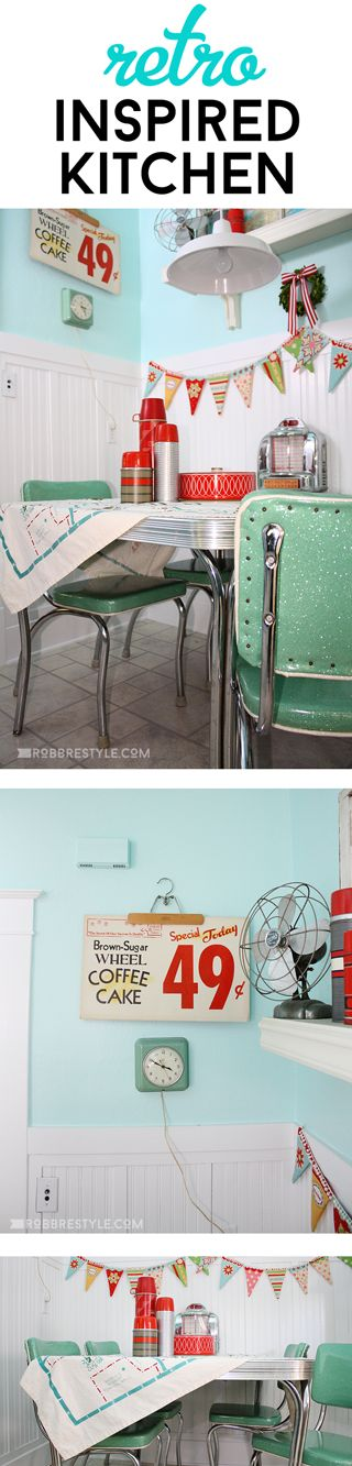 Love this retro kitchen look!!