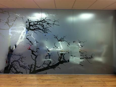 Tree vinyl frost