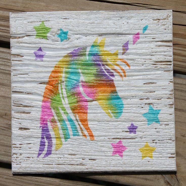 Unicorn nursery sign, unicorn wall sign, nursery decor, unicorn decor, kids room wall sign, wall decorations, kid room decor, tye dye decor by Bowtiquefun on Etsy