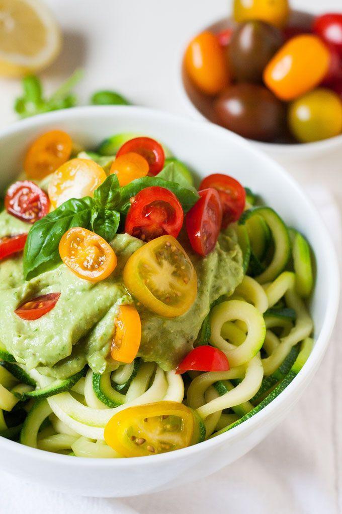 Zucchini-Spaghetti mit cremigem Avocadopesto4