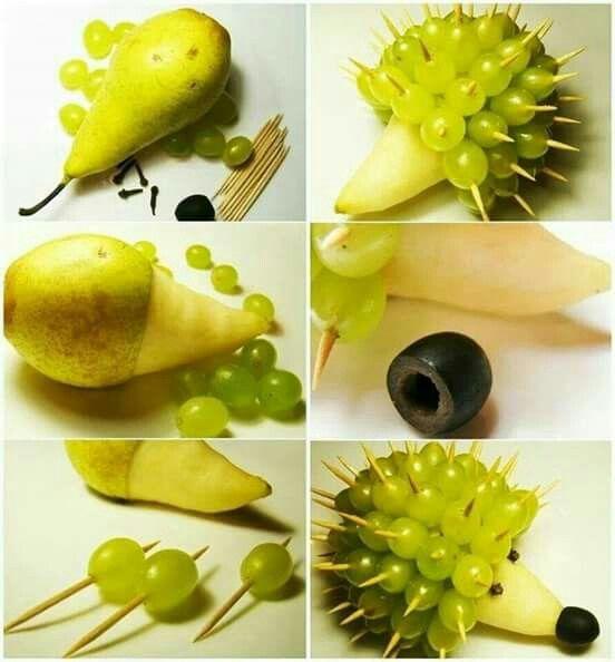 Egel fruit knutselen