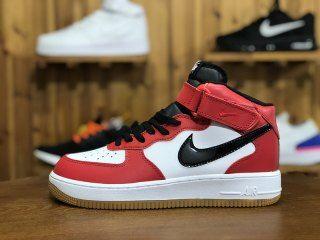 76864fce9d210b Nike Air Force 1 High Utility Bred White Black AJ3711-100 Mens Womens  Running Shoes