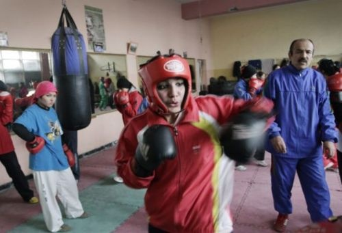 Afghan Woman to box in Summer Olympics. Afghan boxer (yes, you read that correctly, boxer) Sadaf Rahimi will be representing Afghanistan in the women's boxing competition at the London Olympics this July. Not only will this be the first time that women's boxing will be featured at the Olympics, she will be the only woman from Afghanistan at the event. In the Summer games of 2004 Robina Muqimyar and Friba Rezayee became the first women to represent Afghanistan at the Olympics. -- Too awesome!