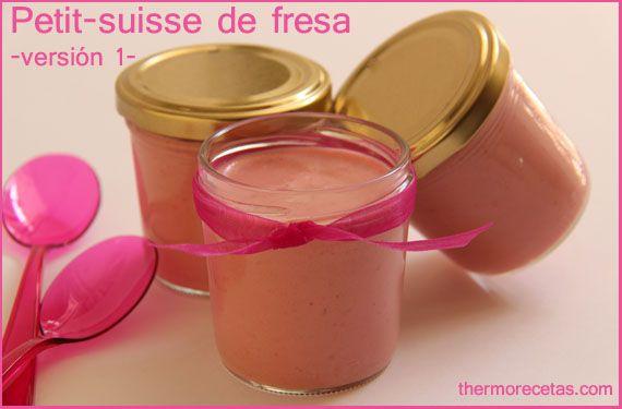 petit suisse de fresa versión 1 thermorecetas Petit suisse de fresa  versión 1