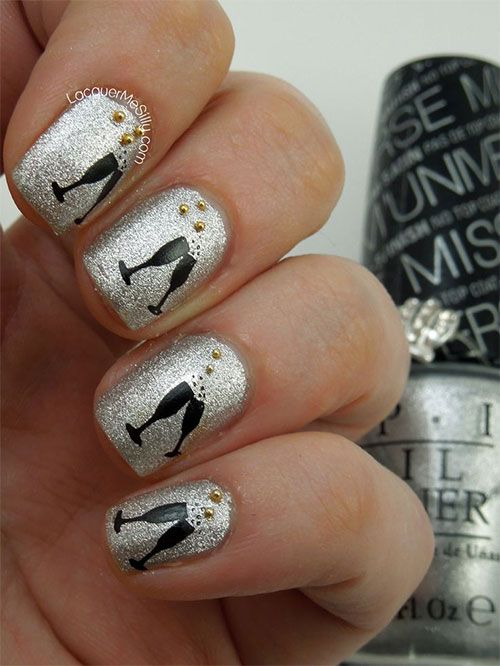 new years nails and happy new year nail art image on We Heart It - 44 Best Happy New Year Eve Nail Art Images On Pinterest Nail Art