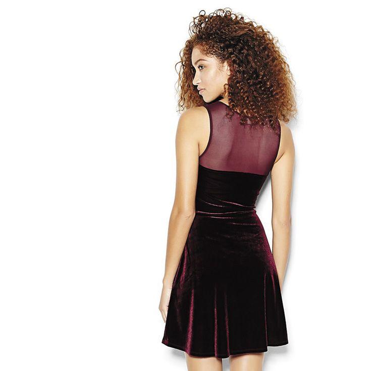 Fit & Flare Velvet Dress.
