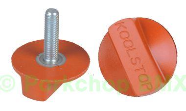 Kool Stop Intl'l old school BMX finned bicycle brake pad REFILLS (PAIR) - SALMON (EM-IRSA)