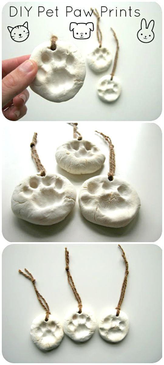 Diy tutorial pet paw prints would make for awesome pet for Christmas ornaments to make for gifts