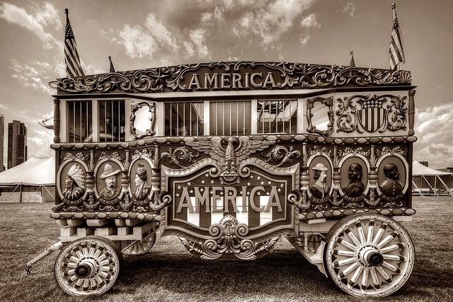 Circus Wagon America by johndecember, via Flickr