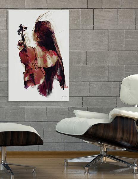 Discover «Violin», Numbered Edition Canvas Print by Galen Valle via @Curioos » https://www.curioos.com/product/print/violin-2