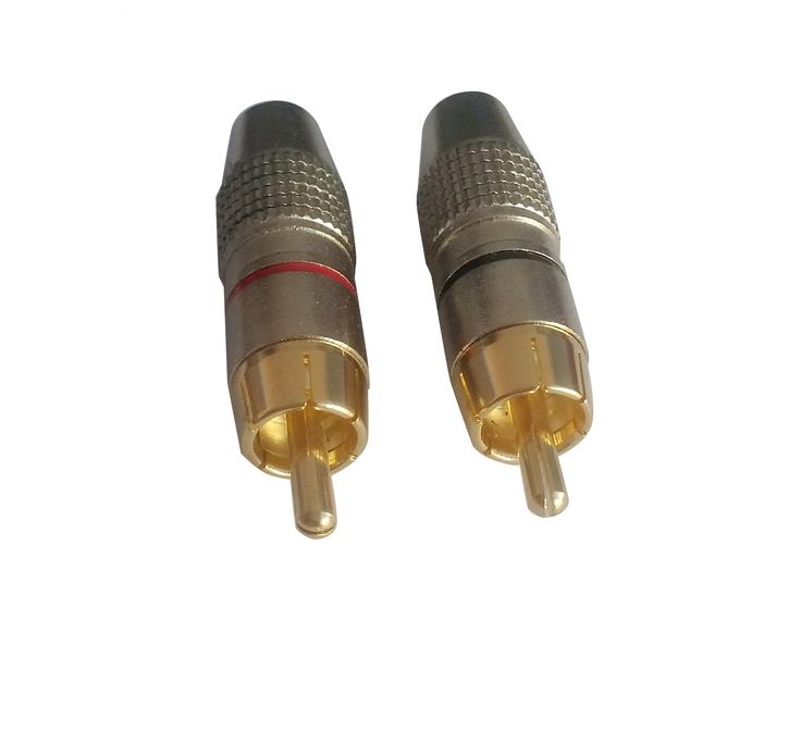 RCA Male Plug Solder Audio Video Cable Adapters Connector Gold Plated-Changzhou Yi Yue Electronic Factory