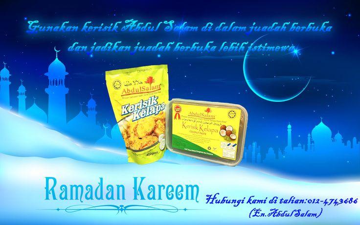 Abdul Salam Food Industries menawarkan produk yang berkahsiat dan berkualiti tinggi untuk pengguna kami. Produk-produk Abdul Salam dijamin halal dan selamat untuk digunakan di dalam kehidupan seharian anda! Selamat menyambut bulan Ramadan al-mubarak dari Abdul Salam Food Industries.