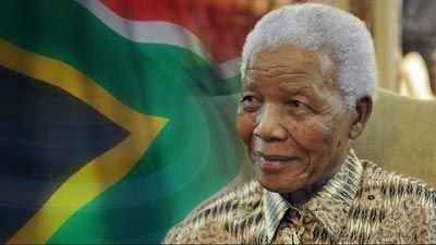 Nelson Mandela the president of South Africa in 2013