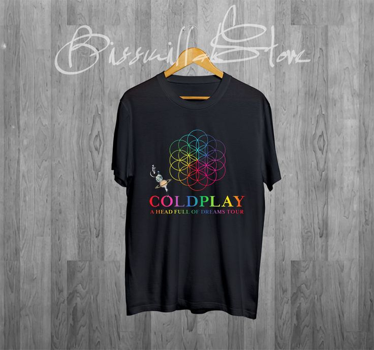 COLDPLAY Shirt - A Head Full Of Dreams Tour 2016 Unisex Black T-Shirt #Handmade #BasicTee