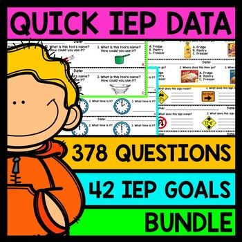 | IEP Goals | Special Education | Assessments | Life Skills | Print and Go | Quick Assessments | BUNDLE |I am so incredibly excited to offer you guys my newest and most practical download that ALL special education teachers can use in their classrooms.