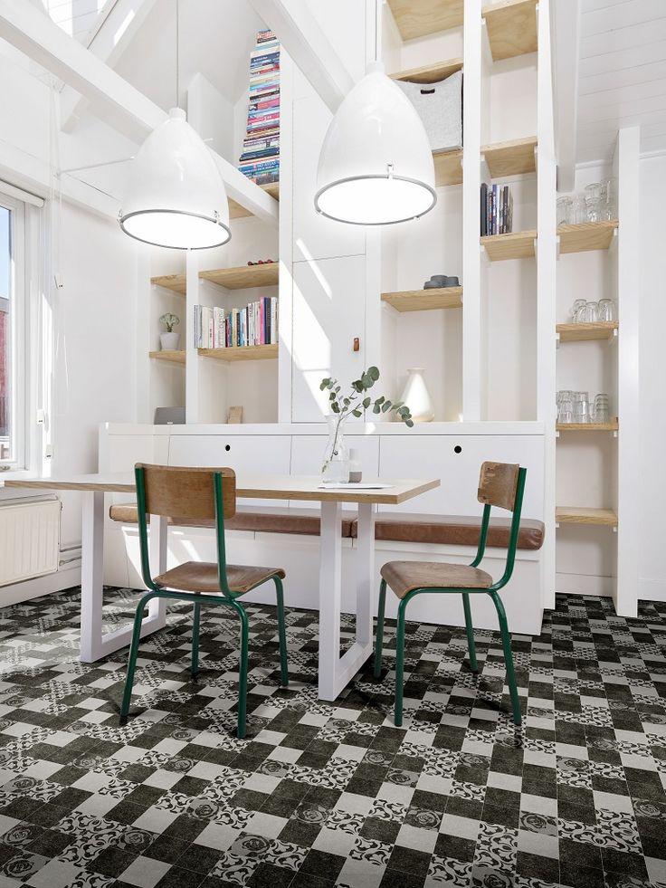 7 best sols vinyles effet carreaux de ciment images on pinterest vinyls baroque and cement. Black Bedroom Furniture Sets. Home Design Ideas