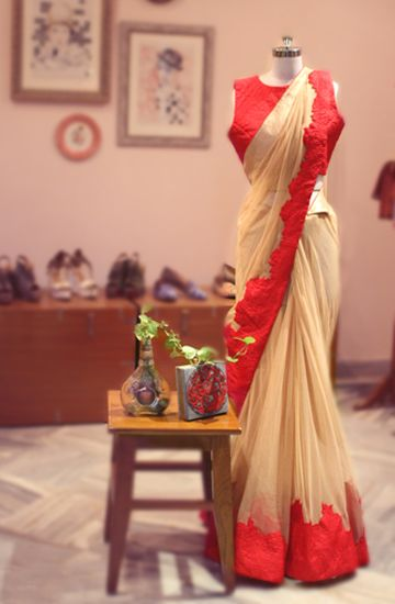 This time, Rao has included a few saris for the bridal market.