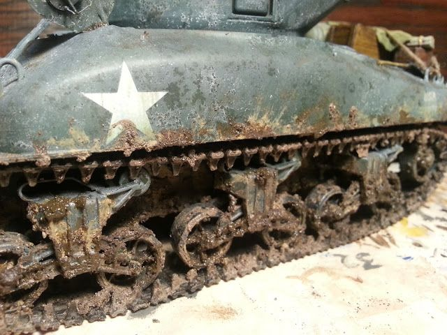How to add mud to a scale model tank.