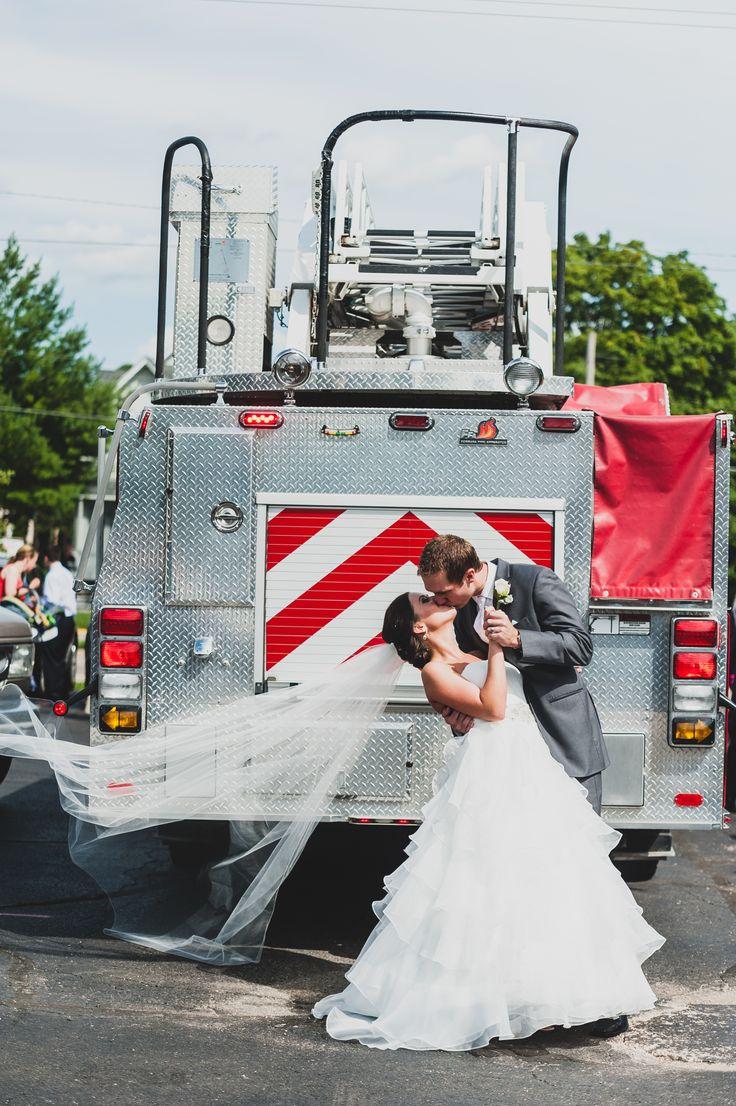 Firefighter Wedding Ideas. Get A Photo By The Firetruck.