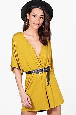 Alexis Kimono Style Jersey Playsuit