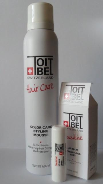 Toitbel Switzerland Hair care Color care styling mousse, Sensitive Lip balm review/ Тоитбел Швейцария Мусс для укладки волос, бальзам для губ обзор  http://beautyunearthly.blogspot.com/2013/04/toitbel-switzerland-hair-care-color.html