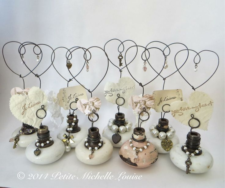 Petite Michelle Louise - old door knobs and wire made into inspiration holders