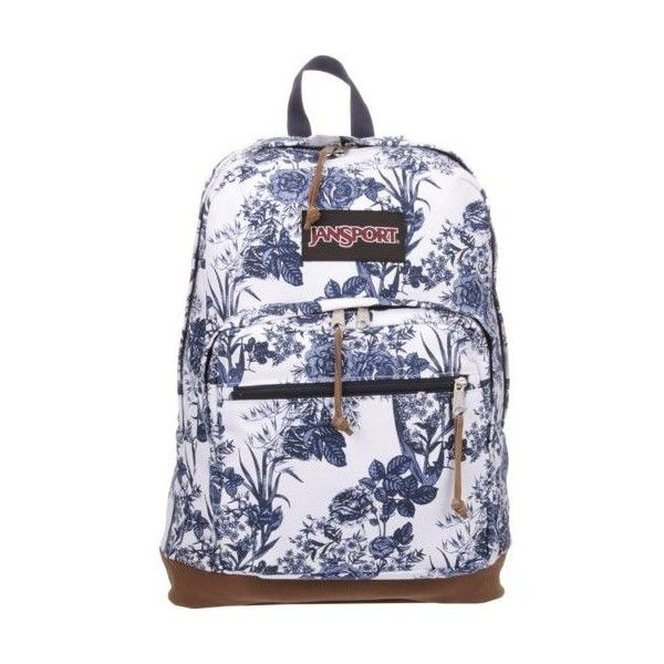JanSport Right Pack Expressions Backpack ($65) ❤ liked on Polyvore featuring bags, backpacks, day pack backpack, jansport bags, suede bag, jansport daypack and jansport