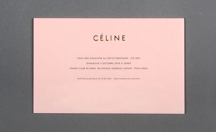 Womenswear collections S/S 2011: show invitations
