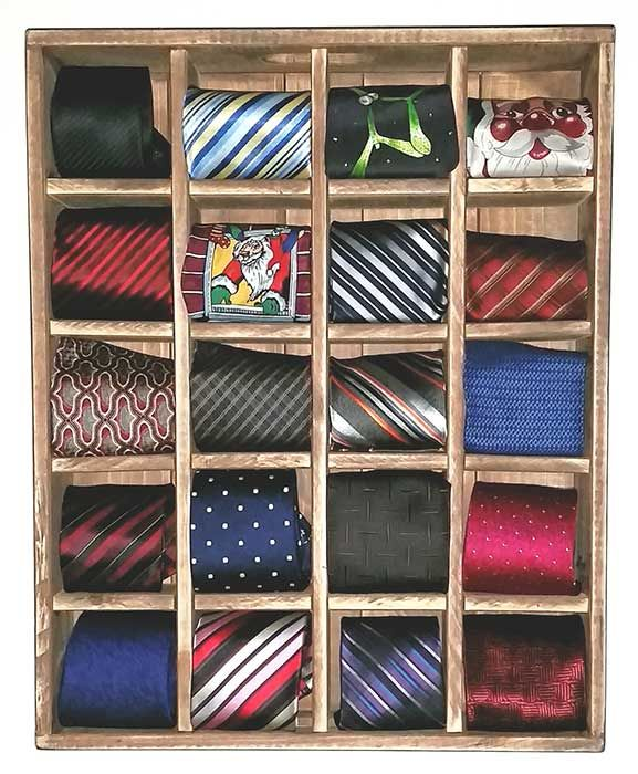 Tie Rack made by Oz-Crates