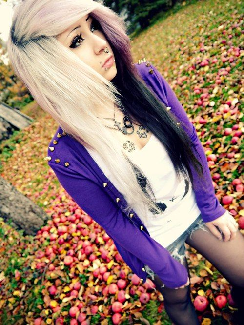 9 Best Colorful Scene Hair Images On Pinterest Colourful Hair