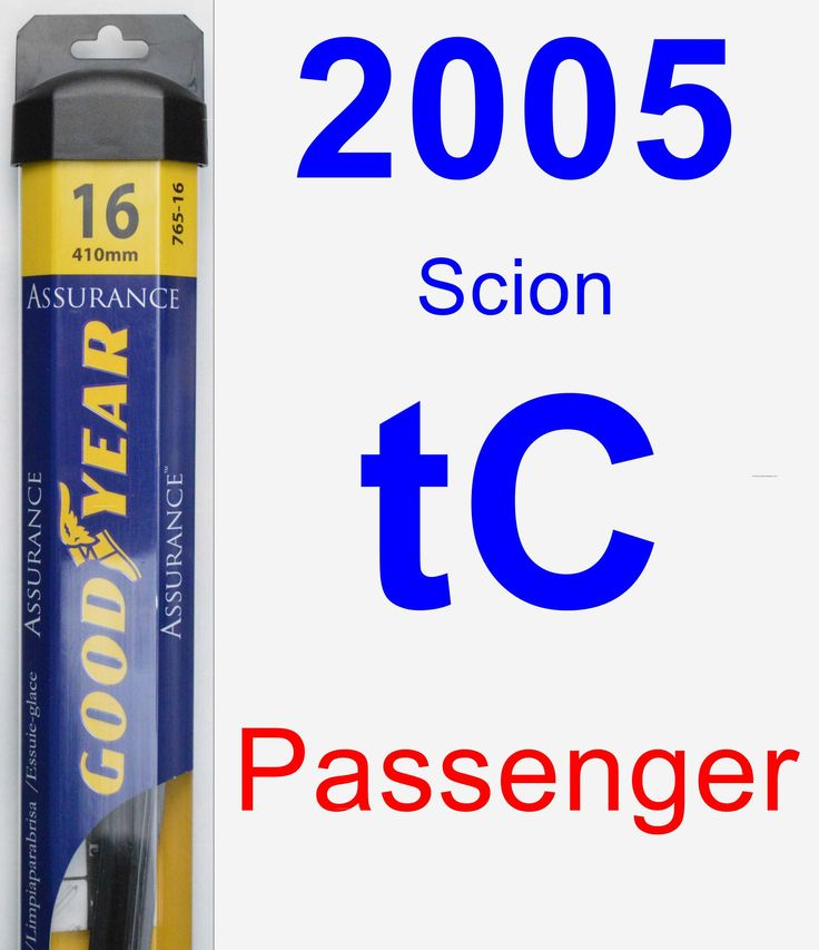 Passenger Wiper Blade for 2005 Scion tC - Assurance