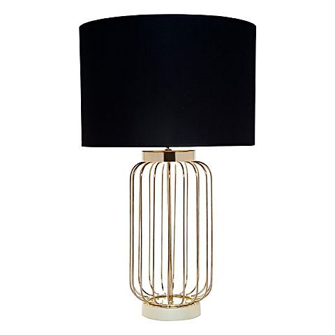 Embellish your décor with the luxe, metallic glint in the wire frame Cleo Table Lamp from CAFE Lighting & Living.