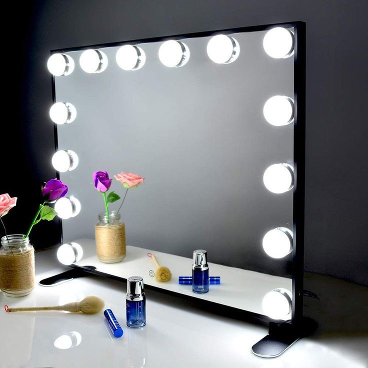 Kartech Hollywood Makeup Mirror With, What Bulbs For Makeup Mirror