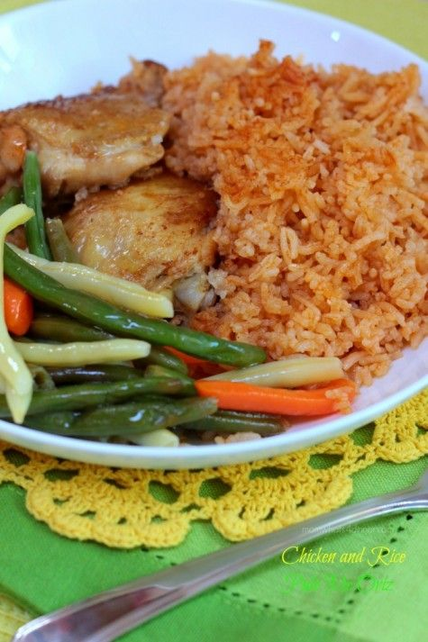 Chicken and Rice (Pule Me Oriz) on http://momwhats4dinner.com/chicken-and-rice-pule-me-oriz/