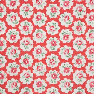 Cath Kidston Red Provence Rose Oilcloth Fabric Choose