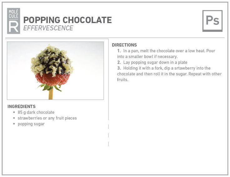 Molecular cuisine recipe: popping chocolate